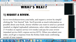 Kirkus revie procedure $$$